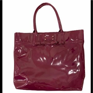 Kate Spade raspberry patent leather tote